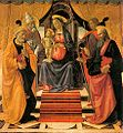 Domenico ghirlandaio, Madonna and Child Enthroned with Saints, lucca 01.jpg