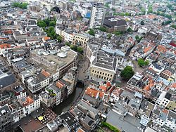 Aerial view of Utrecht from the Dom Tower