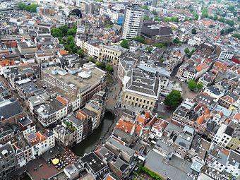 Aerial view of Utrecht from the Dom Tower DomtorenUitzichtIn2009.jpg