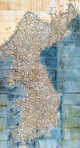 Jiandao - Image: Dongguk daejido late 1700