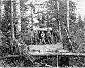 Donkey engine and crew, Coats-Fordney Lumber Company, near Aberdeen, ca 1920 (KINSEY 1887).jpeg