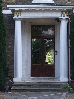 Cassel Hospital - Image: Doorway, Cassel Hospital, Ham Common