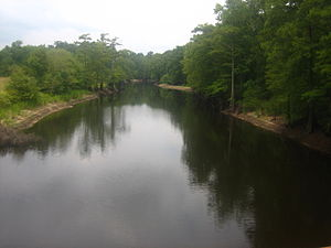 Dorcheat Bayou - Another view of the calmness of Dorcheat Bayou taken from U.S. Highway 80 between Minden and Dixie Inn
