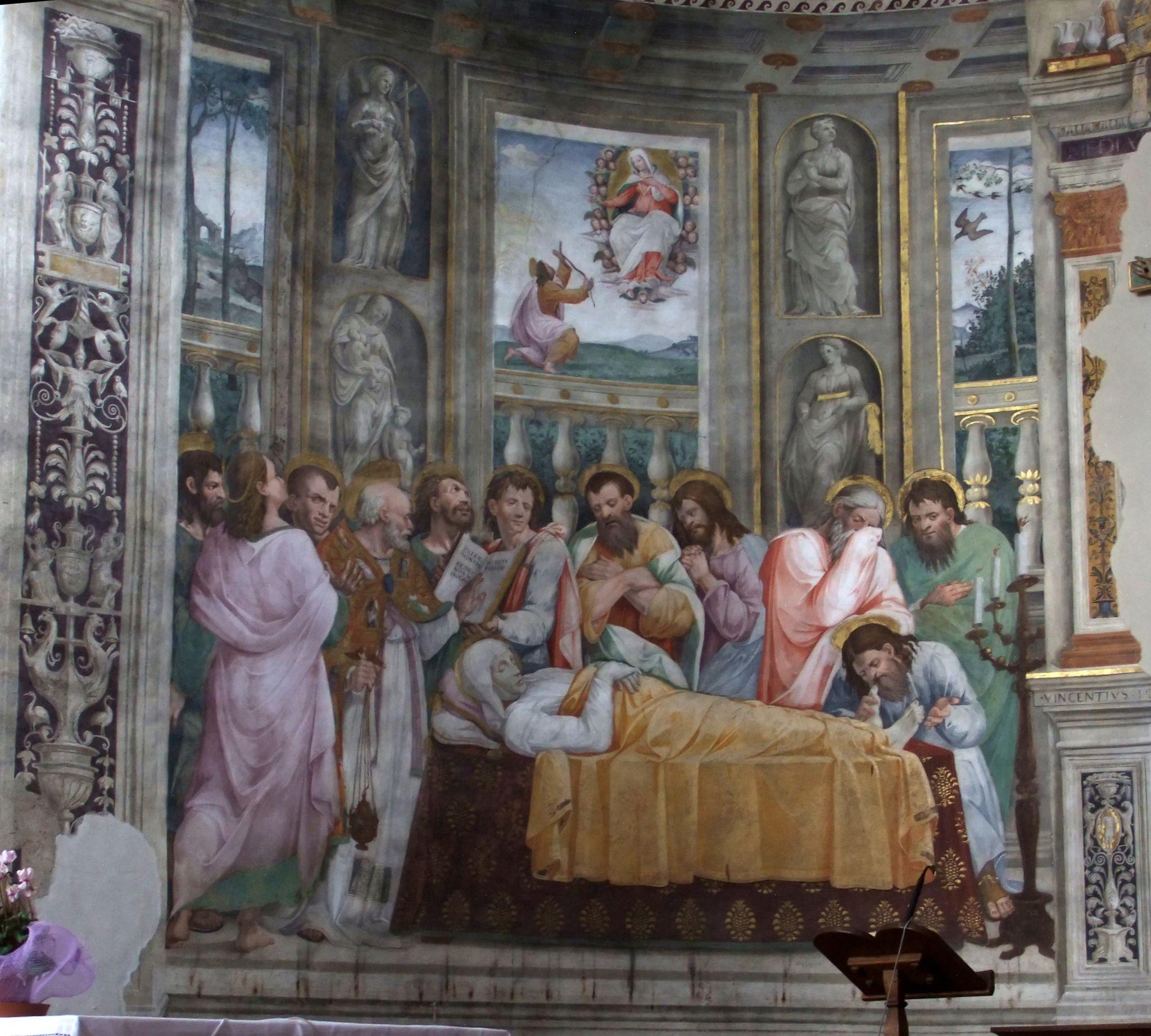 Vincenzo Tamagni, in collaborazione con Giovanni da Spoleto - Dormitio Virginis - Chiesa di Santa Maria in Arrone (Terni)