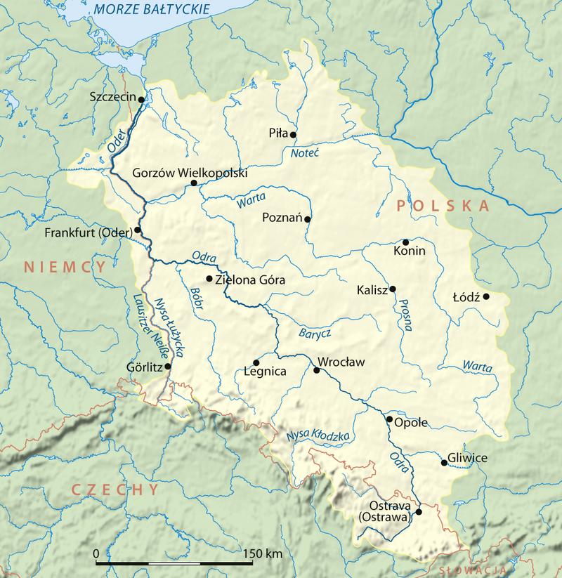 Valksnų Velkė - Vielkė - Vielkia - Vielkija tarp Odros ir Vyslos upių