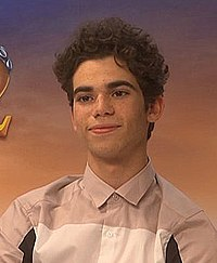 Dove Cameron and Cameron Boyce talking about Descendants 2 (cropped).jpg
