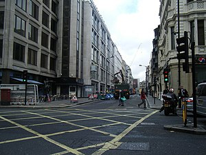 Dover Street - View of Dover Street looking northwards towards Grafton Street