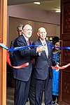 Dr Tebbe and Mr Gottlieb cut the ribbon at the inauguration. (15586163029).jpg