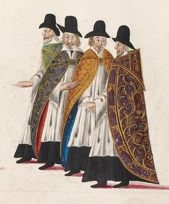 Gentleman - Gentlemen of the Chapel Royal at the funeral procession of Elizabeth I of England.