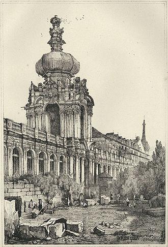 Matthäus Daniel Pöppelmann - Zwinger in Dresden, main work of Pöppelmann