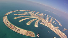 Palm Jumeirah Aerial View On 5 January 2017