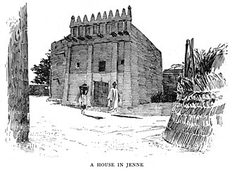 Djenné - A house in Djenné. From Timbuctoo: the Mysterious by Félix Dubois published in 1896.