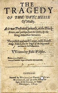 <i>The Duchess of Malfi</i> 1612/13 play by John Webster
