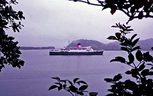 TSS Duke of Lancaster (1956) - The Duke of Lancaster off Mull, Scotland