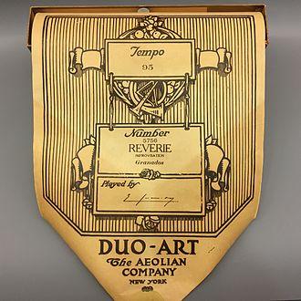 Duo-Art - Duo-Art artist roll, played by Enrique Granados, at Museu de la Música de Barcelona