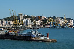 Durres harbor from the sea.jpg