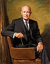 Retrato de Dwight D. Eisenhower.