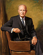 Official White House portrait of Dwight D. Eisenhower.