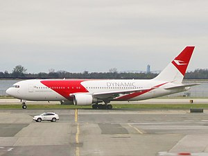 Dynamic Airways Flight 405 - A Dynamic International Airways Boeing 767-200ER similar to the incident aircraft.