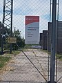 E.On 12020kV electrical substation sign, southern outskirt, 2017 Bicske.jpg
