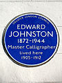 EDWARD JOHNSTON 1872-1944 Master Calligrapher lived here 1905-1912.jpg