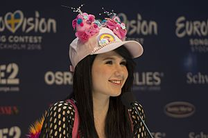 Germany in the Eurovision Song Contest 2016 - Jamie-Lee during a press meet and greet