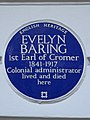 EVELYN BARING 1st Earl of Cromer 1841-1917 Colonial administrator lived and died here.jpg