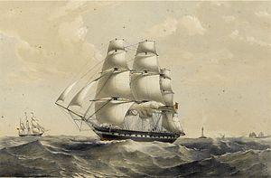 Madagascar (ship) - Image: East Indiamen Madagascar