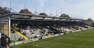 Huish Park Football stadium in Yeovil, Somerset, England