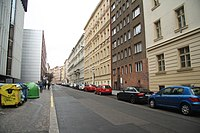 East view of Římská street in Vinohrady, Prague.jpg