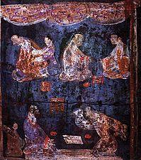Eastern Han Luoyang Mural of Liubo players