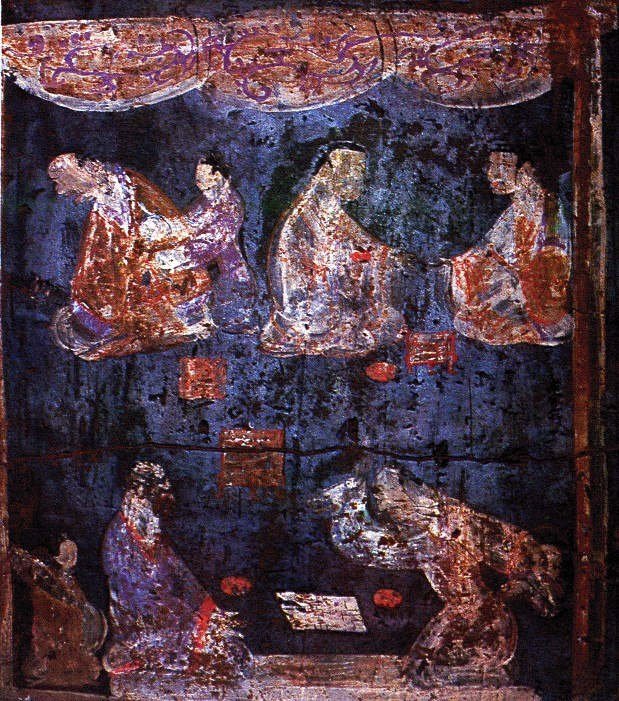 Eastern Han Luoyang Mural of Liubo players