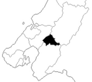 Eastern Hutt - Eastern Hutt electorate boundaries between 1993 and 1996.
