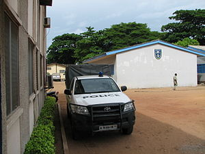 Law enforcement in Benin - Courtyard of the Benin national police school, in the Zongo-Nima district of Cotonou.