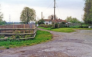 Edington railway station - Site of the station in 1995