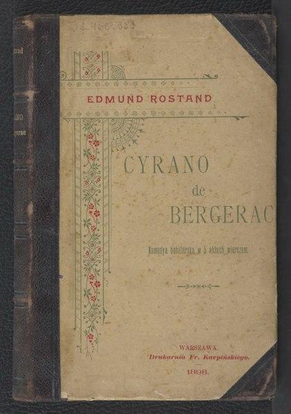 File:Edmund Rostand - Cyrano de Bergerac tłum. Londyński.djvu
