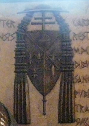 Edmund Dalbor - Edmund Dalbor's coat-of-arms on his burial monument in Gniezno Cathedral