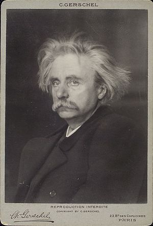 English: Norwegian composer Edvard Grieg (1843...