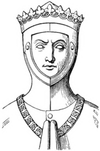Drawing of tomb effigy of Thomas of Lancaster, 1st Duke of Clarence