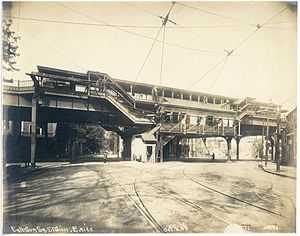Egleston (MBTA station) - Egleston station in October 1908, a year before opening