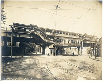 Egleston station - Egleston station in October 1908, a year before opening