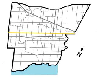 Eglinton Avenue road in Toronto, Canada