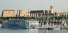Вид на реку Нил в Луксоре