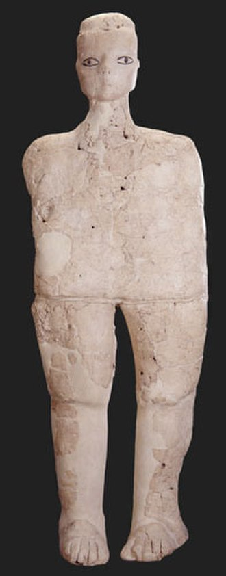 Calcium - One of the 'Ain Ghazal Statues, made from lime plaster