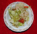 Eisbergsalat mit Tomaten Lactuca sativa.JPG