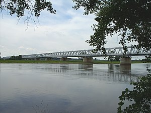 Wittenberge - Railway bridge over the Elbe Wittenberge