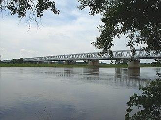 Wittenberge - Railway bridge over the Elbe Wittenberge