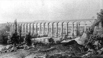 Württemberg Western Railway - Bietigheimer viaduct in 1855