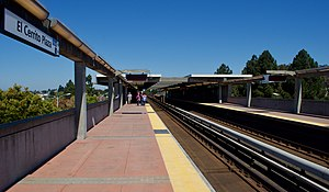 El Cerrito Plaza station - View from the platform