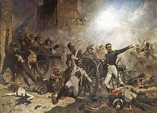 Defensa del parque de artillería de Monteleón, obra de Joaquín Sorolla